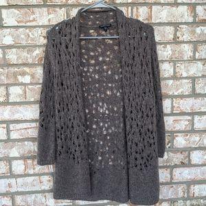 Eileen Fisher Open Weave Yarn Cardigan Sweater S
